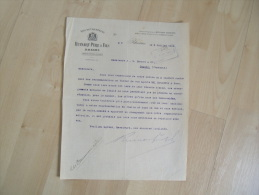 Ancienne Facture Rheims Reims Champagne Ruinart 1913 - France