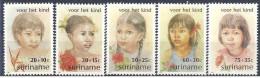 1981 SURINAM 834-38** Races humaines, fillettes