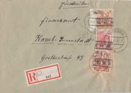 Bizone R-Brief Mif Minr.2x 44I, 46I Bebra 13.8.48 - Bizone