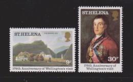 St Helena 1980 Wellington Anniversary & Goya Portrait Set 2 MNH - Saint Helena Island