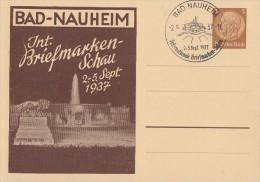 DR Privat-Ganzsache Minr.PP122 C57/01 SST Bad Nauheim 2.9.37 - Deutschland