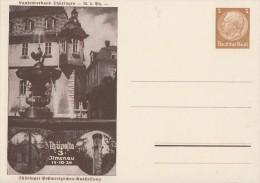 DR Privat-Ganzsache Minr.PP122 C107 Postfrisch Thüposta Ilmenau 15.10.39 - Deutschland