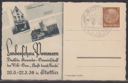 DR Privat-Ganzsache Minr.PP122 C81/02 SST Stettin 20.3.38 - Deutschland
