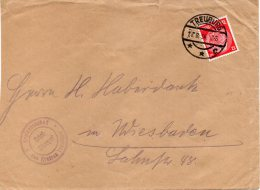 DR Brief Von TREUBURG Nach WIESBADEN Mit 519 X Als EF - Allemagne