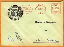 Enveloppe Brief Cover Administration Communale De Charleroy Charleroi - Belgien