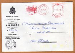 Enveloppe Brief Cover Commune De Belgrade Namur - Belgien