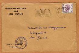 Enveloppe Brief Cover Gemeentebestuur Van Wilrijk - Belgique