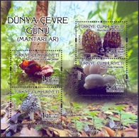 Turkey - Mushrooms, souvenir sheet, MINT, 2015
