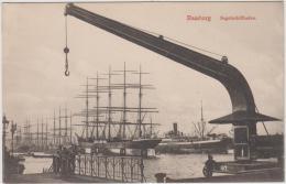 """AK -HAMBURG """"Segelschiffhafen"""" Um  1900 - Sonstige"""