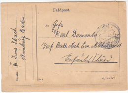 1940s Nimburg  GERMANY FELDPOST LETTERCARD Postal  STATIONERY To Erfurt Forces Military Cover Stamps - Germany