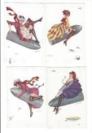 Xavier Sager , 6 Cartes , Les Obus Pacifiques , éd. Wellcome - Sager, Xavier