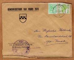 Enveloppe Brief Cover Gemeentebestuur Van Puurs - Brieven En Documenten