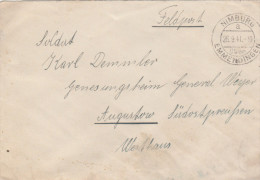 1944 Nimburg GERMANY FELDPOST COVER To AUGUSTOW Sudostpreussen POLAND  Forces Military Stamps - Germany