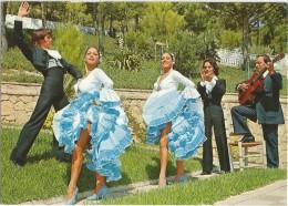 POSTAL DE BALLET FIESTA FLAMENCA TIPICA - SIN CIRCULAR, IMPRESION SAVIR DE BARCELONA - Bailes