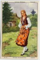 Finor Meurisse - Ca 1930 - Nationale Kleederdrachten, Costumes Nationaux - 28 - Lithuanie, Litauwen, Lietuva, Lithuania - Côte D'Or