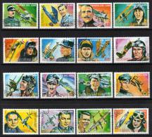 GUINEA EQUATORIAL 1977 - Erfolgreiche Kampfflieger - MiNr.1070-1085 Kompletter Satz - Militaria