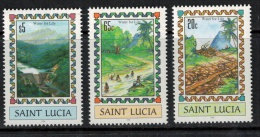 St. Lucia  1996 SC 1035-1037 MNH Water For Life Rafting - St.Lucia (1979-...)