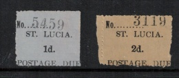 St. Lucia  1935 SC  J1a-J2a Type 1 Mint Postage Dues - St.Lucia (1979-...)