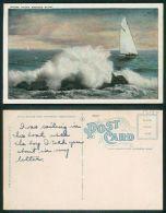 USA -  [OF #13135] - WHERE OCEAN BREEZES BLOW - SHIP BOAT SAILLING - Atlantic City