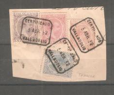 Fragmento  De 4 Sellos Con Matasello De Valladolid. - Usados