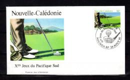 """Enveloppe 1er Jour De 1995 """" X° JEUX DU PACIFIC / GOLF  / NOUMEA Le 24-08-95 """" N° YT 699. Parf état. FDC"""