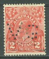 AUSTRALIA 1931-36: SG 127 / YT 79, PERFIN, o - FREE SHIPPING ABOVE 10 EURO