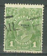 AUSTRALIA 1931-36: SG 125 / YT 77A, PERFIN, o - FREE SHIPPING ABOVE 10 EURO