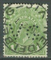AUSTRALIA 1931-36: SG 125 / YT 77A, PERFIN, Marcophilia, o - FREE SHIPPING ABOVE 10 EURO