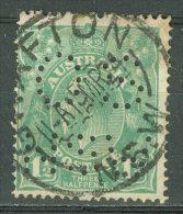 AUSTRALIA 1918-23: SG 61 / YT 24, PERFIN, o - FREE SHIPPING ABOVE 10 EURO