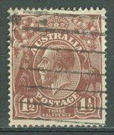 AUSTRALIA 1918-20: SG 52 / YT 34, o - FREE SHIPPING ABOVE 10 EURO