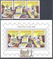1982 SURINAM 856-58+ BF 39** Philexfrance , imprimerie