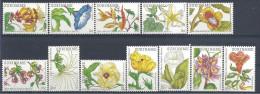 1983 SURINAM 874-85** Fleurs, peinture