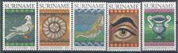 1983 SURINAM 890-94** Mosa�ques