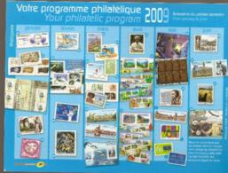 Programme Philatélique  1°semestre 2009  ( Voir Les 2 Scans ) - Documenti Della Posta