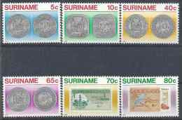 1983 SURINAM 901-6** Monnaies, billets