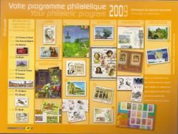 Programme Philatélique  2°semestre 2009 - Documenti Della Posta