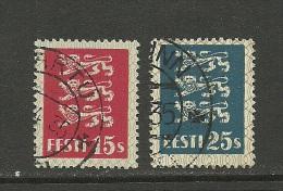 ESTLAND ESTONIA 1935 Michel 106 - 107 O - Estonia