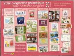 Programme Philatélique  2°semestre 2011   ( Voir Les 2 Scans ) - Documenti Della Posta