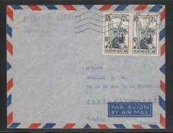 Madagaskar 1955, Brief, Sukkulenten / Madagascar, 1955, cover, succulents