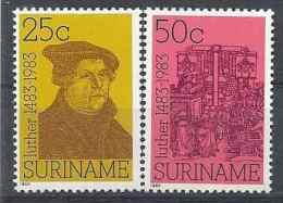 1984 SURINAM 932-33** Religion, Luther
