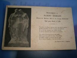 59 - LILLE - MONUMENT A ALBERT SAMAIN - OEUVRE DE MADAME MILLE NEE YVONNE SERRUYS - CPA - Lille