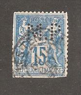 Perforé/perfin/lochung France No 90 M.P. Veuve Morin Pons - Perforés