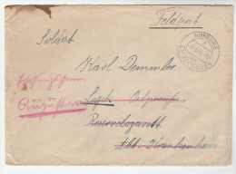 1941 Nimburg  GERMANY FELDPOST COVER REDIRECTED Forces Military Stamps - Germany