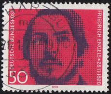 GERMANY - Scott #1051 The 150th Anniversary Of The Birth Of Fr. Engel (*) / Used Stamp - Gebraucht