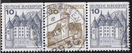 GERMANY - Scott #1231 (2) Palaces And Castles / Used Stamp - Gebraucht