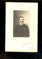 Photographie 11x16cm Homme Moustache / Photographe A PETIT à ORLEANS - Personas Anónimos