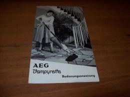 Old Advertisements For Vacuum Cleaner AEG - Otros