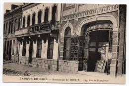 DENAIN--Banque Du Rhin--Succursale De Denain 31,33 Rue De Valenciennes (très Beau Plan)-Belle Carte-... - Banques
