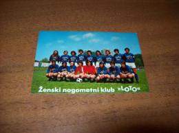 """Old Pocket Calendar - Female Football Club """"LOTO"""" Zagreb 1976 - Formato Piccolo : 1971-80"""