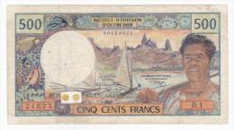Nouvelle Calédonie - 500 FCFP - Surchargé NOUMEA - B.1 / Signatures A. Postel-Vinay / Clappier - Nouméa (New Caledonia 1873-1985)